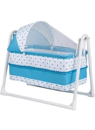 Rival Sepet Beşik Portatif, Bebek Beşiği Sallanır Beşik Mavi